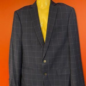 RYAN SEACREST Men's Blue Check Blazer - Size 42L